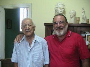 Con mi maestro Domingo Aragú en su casa. 97 años!!!